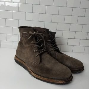 All saints spitalfields mens Chelsea suede boot 11